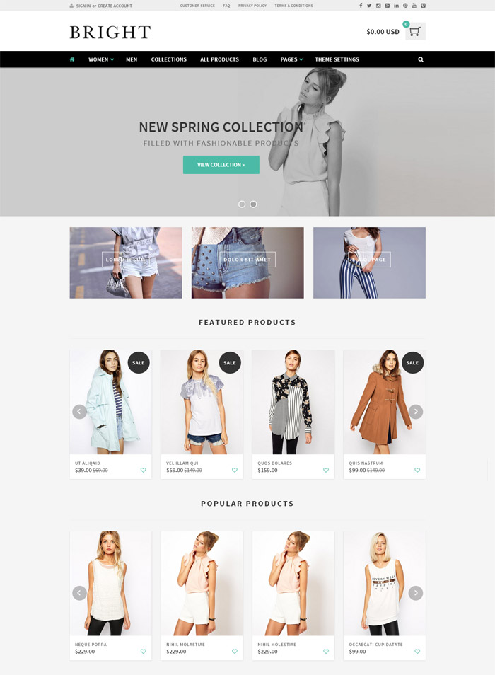 Bright - Responsive Shopify Theme