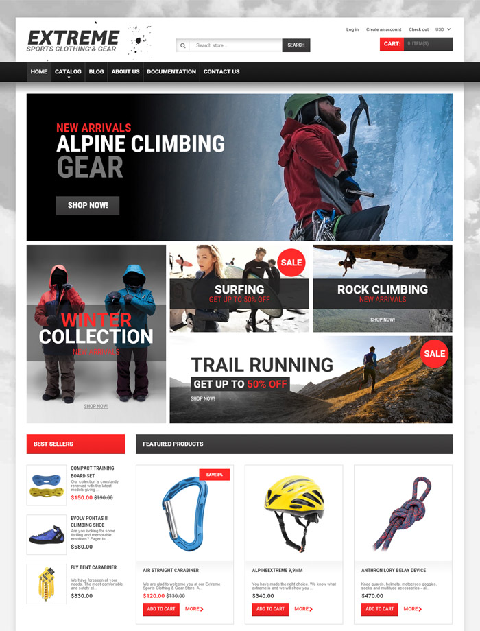 Extreme Sports Gear Shopify Theme