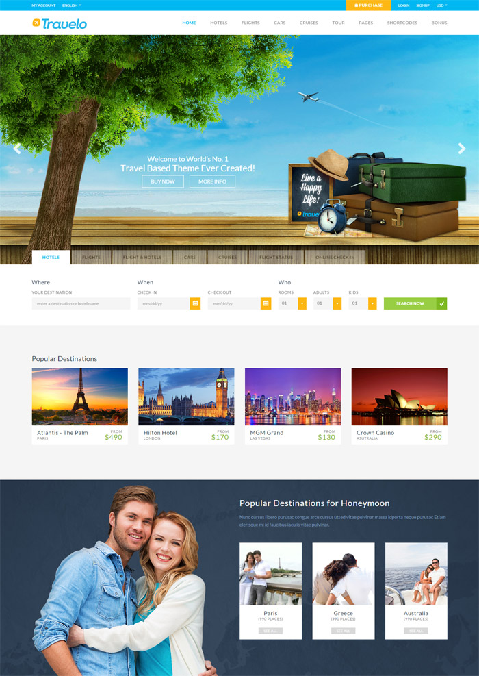 Travelo - Travel, Tour Booking HTML5 Template