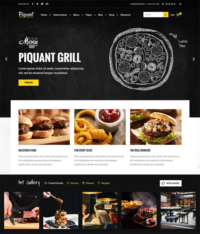 Piquant - A Restaurant, Bar & Café Theme