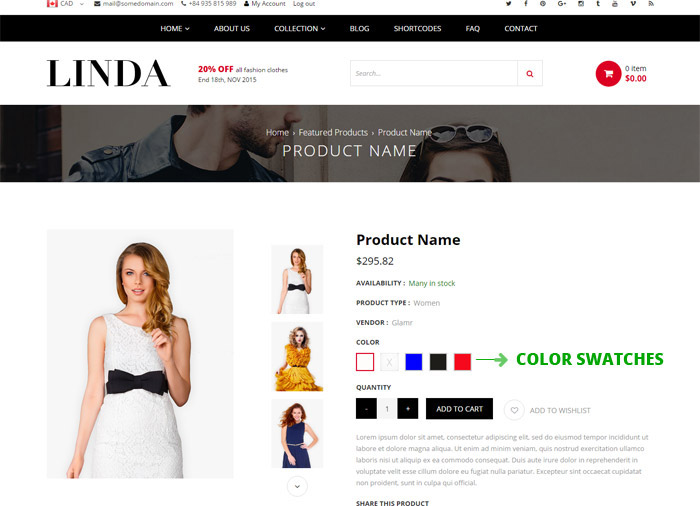 Linda Color Swatch Function
