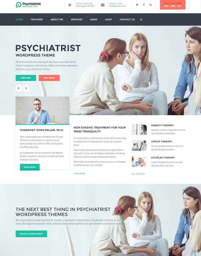 Psychiatrist - WordPress Theme