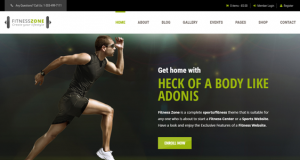 Fitness Zone – The Gym & Sports Theme