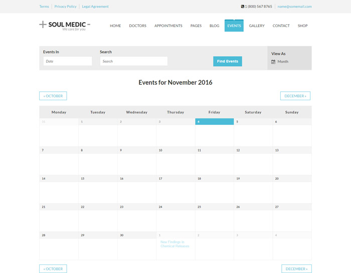 medical SoulMedic Events Calendar