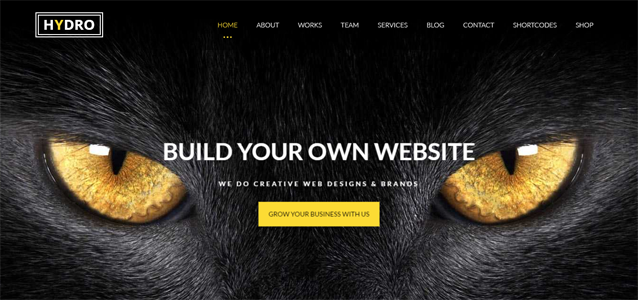 Hydro one page creative wordpress theme
