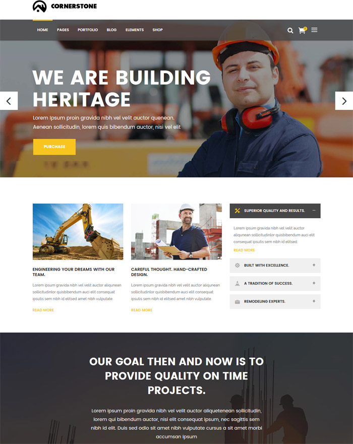 Cornerstone - A Professional Construction, Builder & Contractor Theme