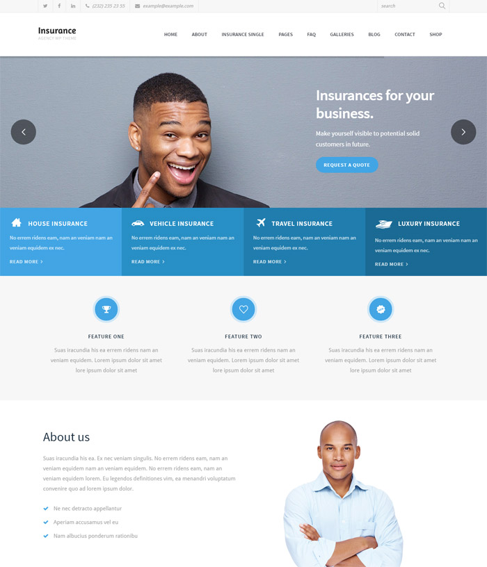 Insurance Agency - Business and Insurance WP Theme