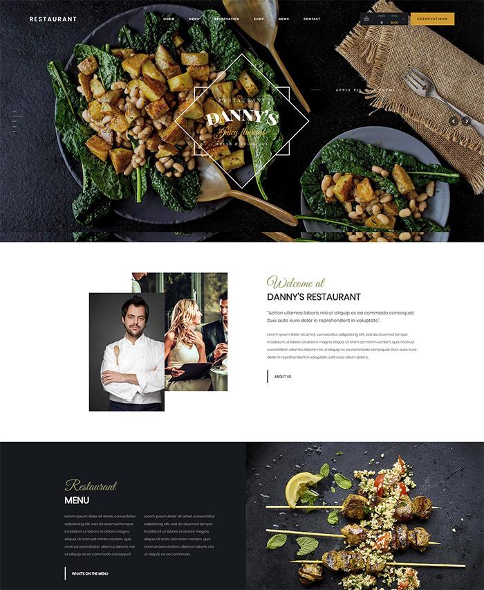 Dannys Restaurant   Restaurant and Cafe WordPress Theme