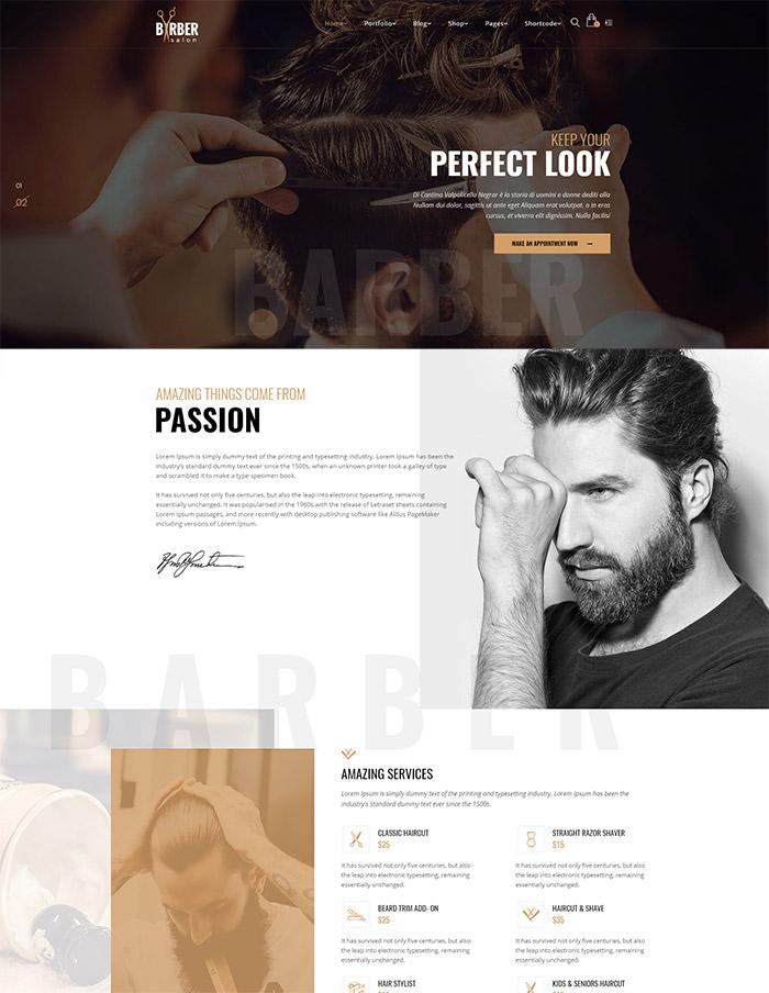 Barber - Hair, Tattoo & Beauty Salons WordPress Theme