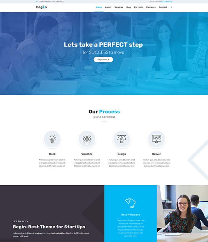 Begin Business | Startup Business Theme