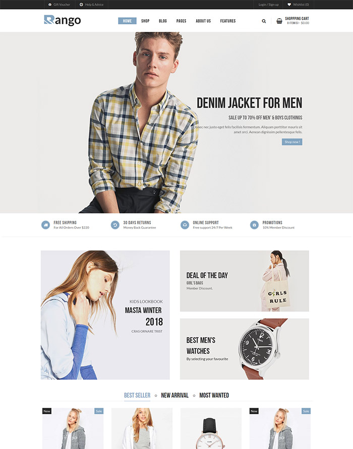 Rango - Fashion Responsive WooCommerce WordPress Theme