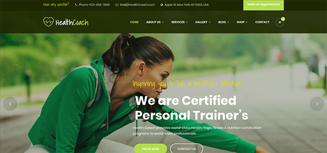 Coach WordPress themes of exceptional functionalities