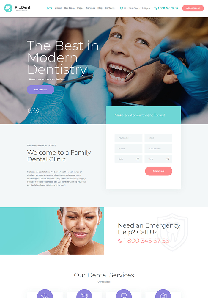 ProDent | Dental Clinic & Healthcare WP Theme