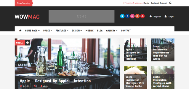 10+ Blogging and Magazine Themes from Drupal