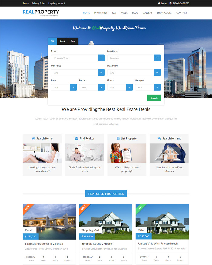 Real Property - Responsive Real Estate WP Theme