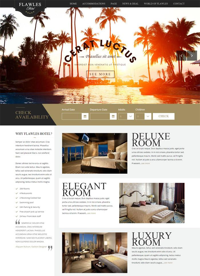 Flawleshotel - Online Hotel Booking Theme