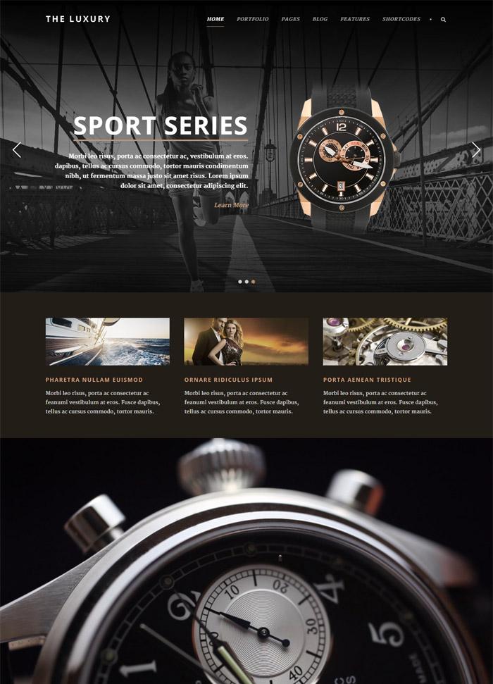 The Luxury - Dark/Light Responsive WordPress Theme