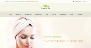 Resorts & retreats theme –  WordPress Dream Spa