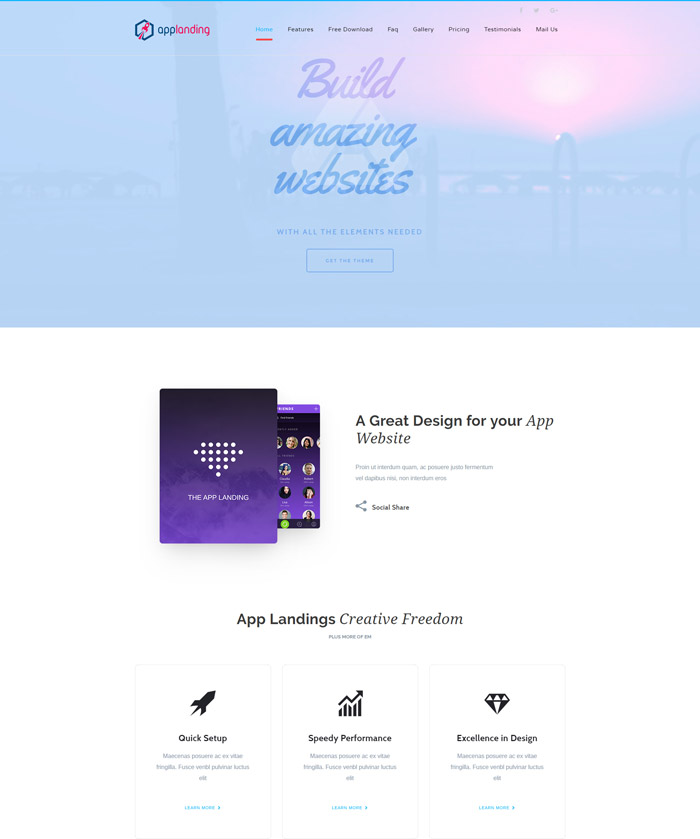 App Promotion | One Page App Promotion Theme