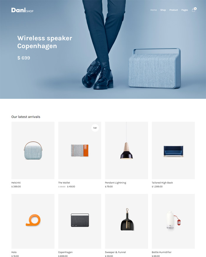 Dani - A Storming Portfolio & Shop WordPress Theme