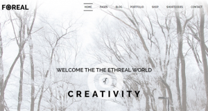 The classic portfolio theme Foreal for digital agency