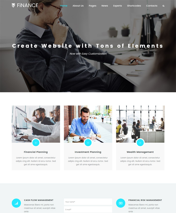 Finance | Tax Consultant, Finance Business Theme