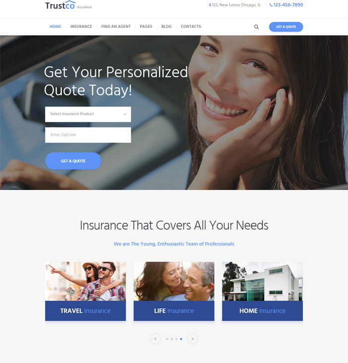Insurance Agency & Business WP Theme