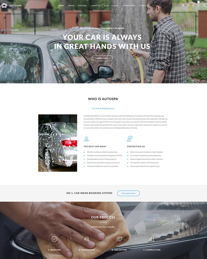 Auto Spa - Car Wash Auto Detail WordPress Theme