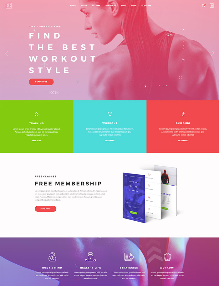 TopFit - A Modern Fitness, Gym, and Lifestyle Theme