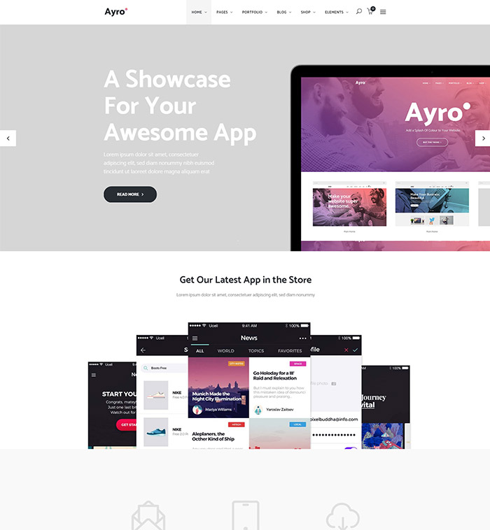 Ayro - A Fresh Theme for Tech and Digital Businesses