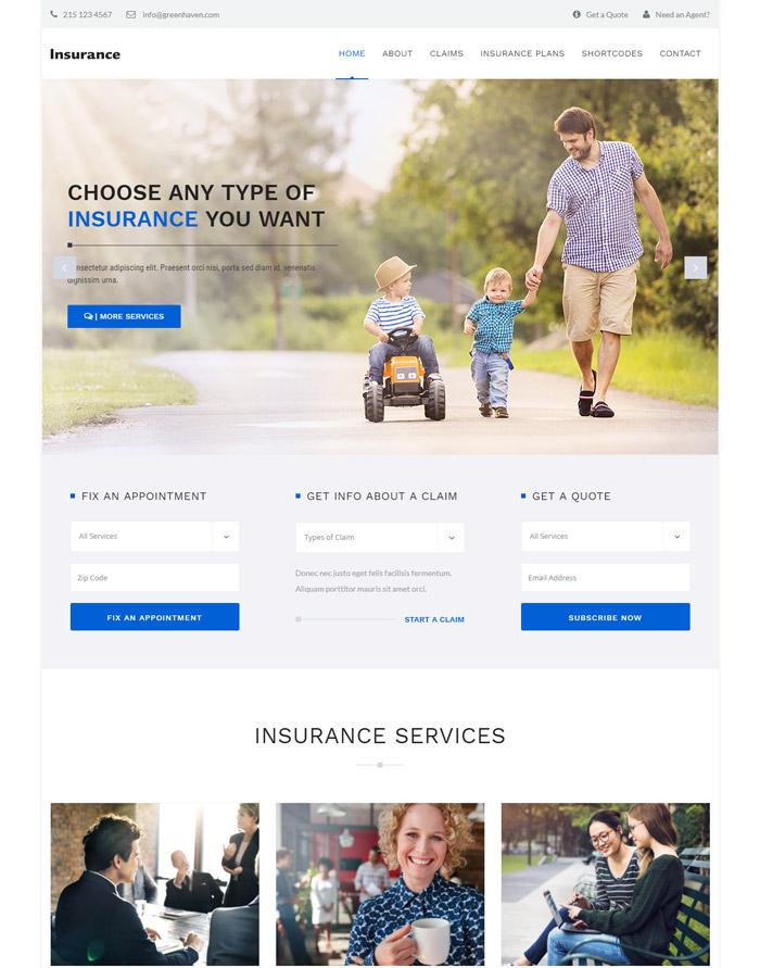 Insurance - Theme for Insurance Agency