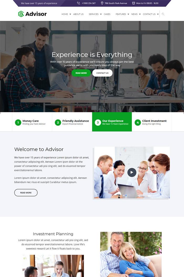 Advisor   Consulting, Business, Finance WordPress Theme