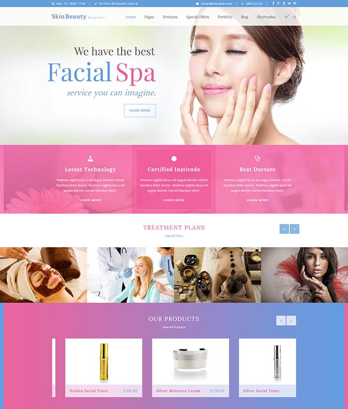 Skin Beauty - Beauty | Spa | Salon WordPress Theme