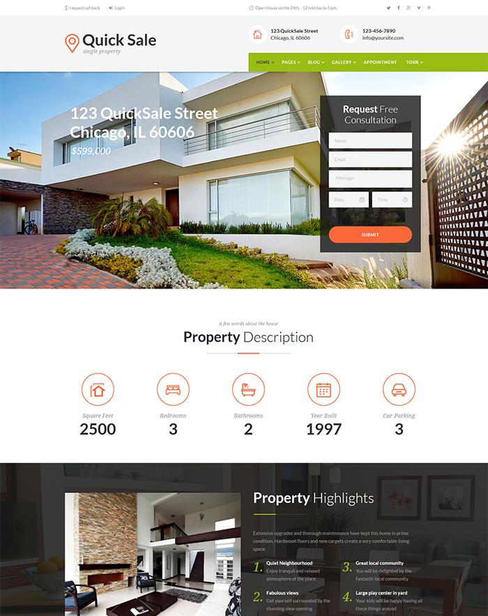 Quick Sale | Single Property Real Estate Theme