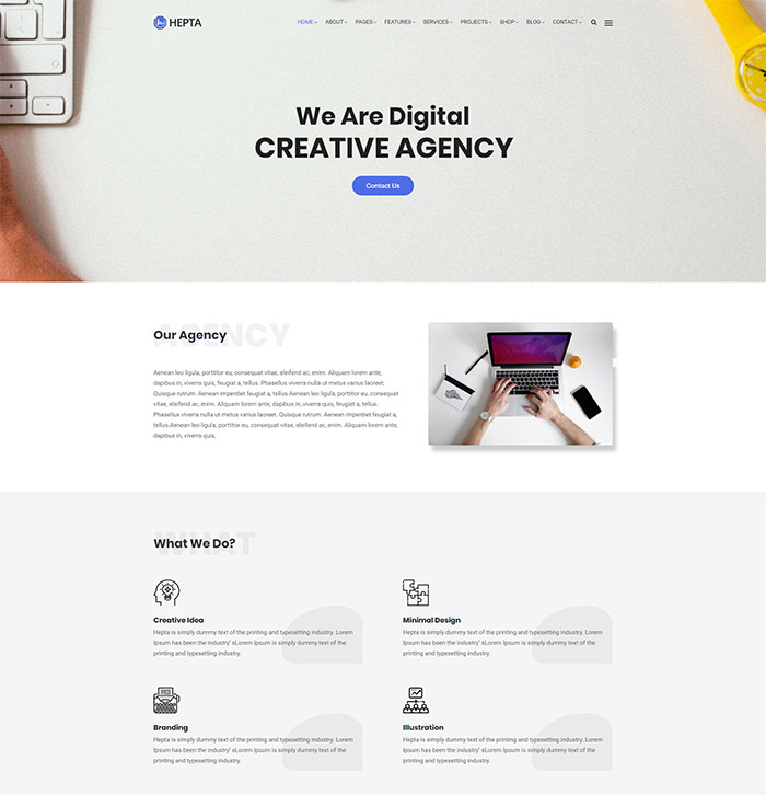 Hepta-Business WordPress Theme