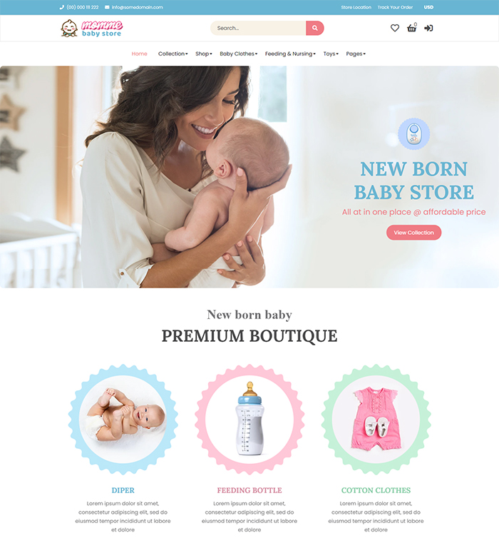 Momme - Shopify Kids Store, Baby Shop